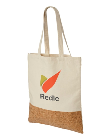 branded cory 175 g/m² cotton and cork tote bag
