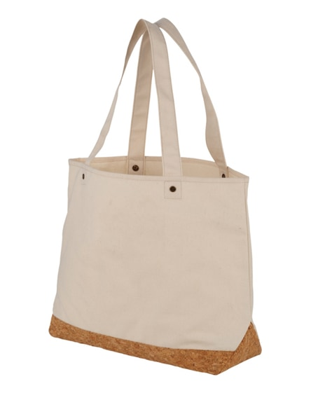 branded napa 406 g/m² cotton and cork tote bag