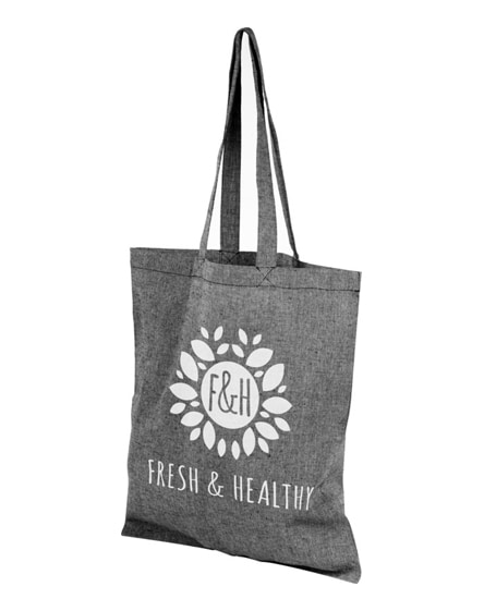 branded pheebs 150 g/m² recycled cotton tote bag