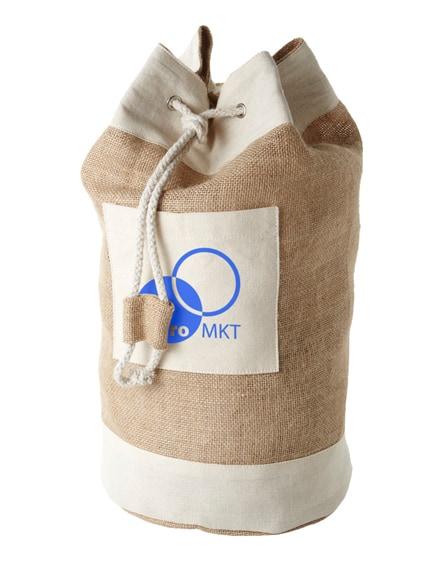 branded goa sailor duffel bag made from jute