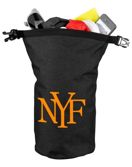 branded traveller 5 litre heathered waterproof bag