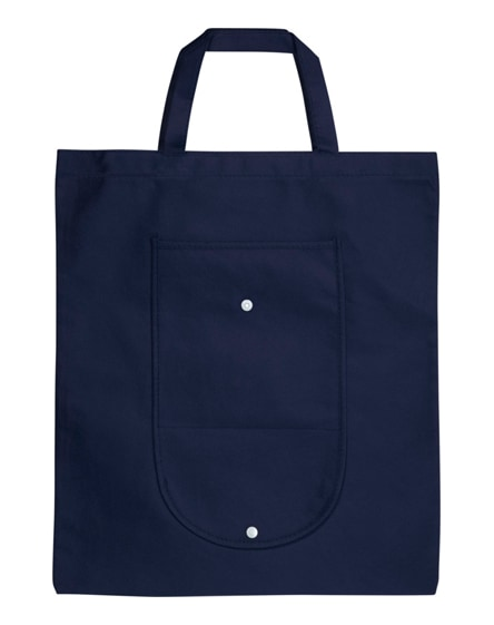 branded maple buttoned foldable non-woven tote bag