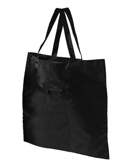 branded take-away foldable shopping tote bag with keychain