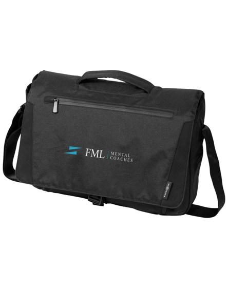 "branded deluxe 15.6"" laptop messenger bag"