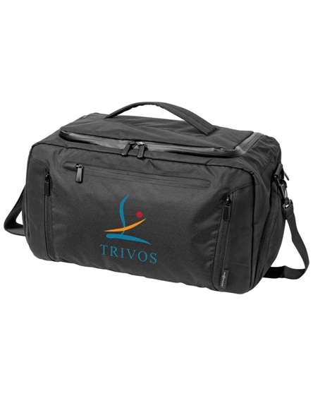 branded deluxe duffel bag with tablet pocket