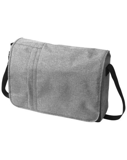 "branded fromm heathered 15.6"" laptop messenger bag"