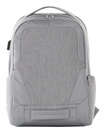 "branded overland 17"" tsa laptop backpack with usb port"