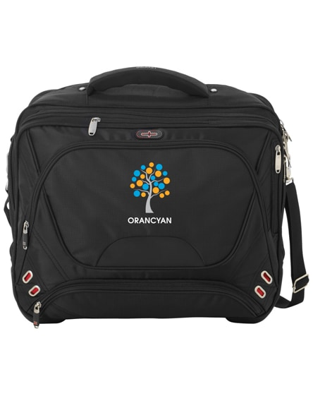 "branded proton 17"" airport security friendly messenger bag"