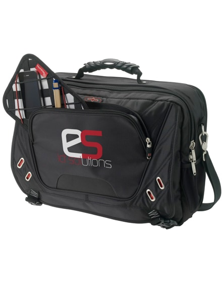 "branded proton security friendly 17"" laptop briefcase"
