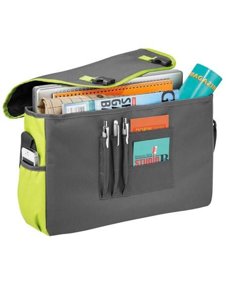 """branded punch 15.6"""" laptop messenger bag"""