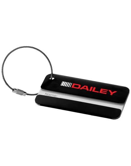 branded discovery luggage tag