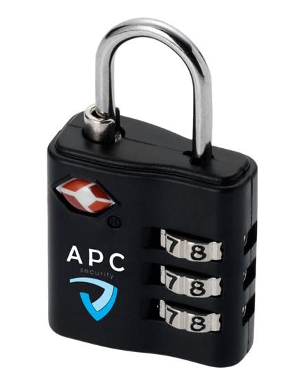 branded kingsford tsa-compliant luggage lock