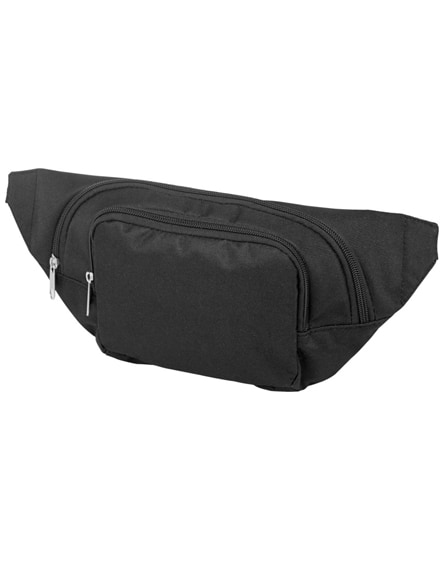 branded santander fanny pack with two compartments