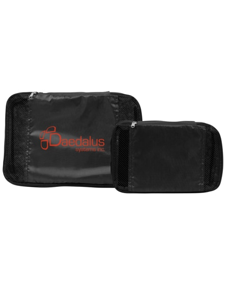 branded tray non-woven interior luggage packing cubes