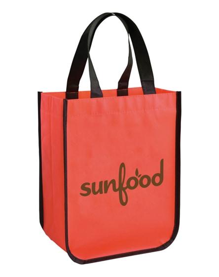 branded acolla small laminated shopping tote bag