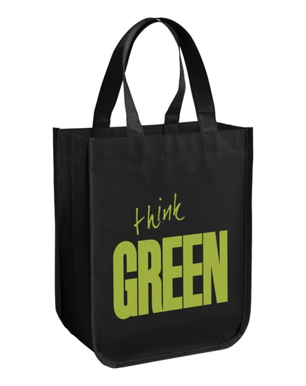 branded acolla small laminated shopping tote bag