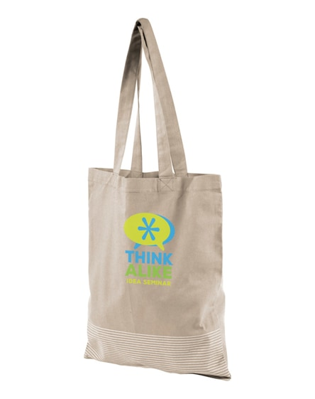 branded aylin 140 g/m² silver lines cotton tote bag