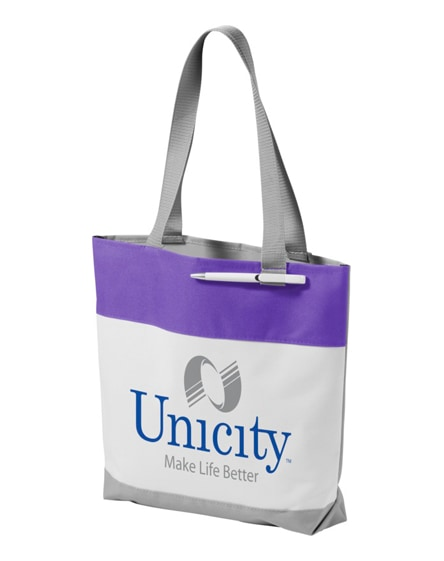 branded bloomington colour-block convention tote bag