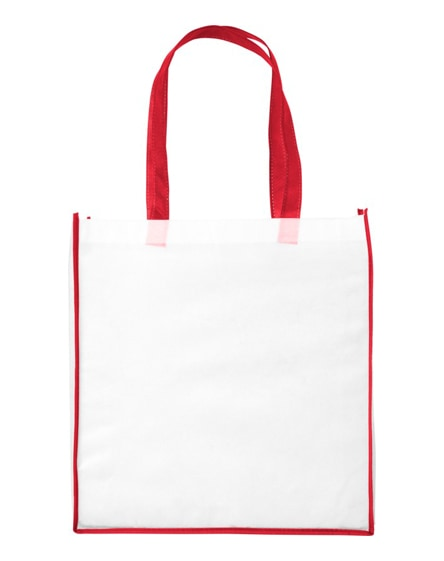branded contrast large non-woven shopping tote bag