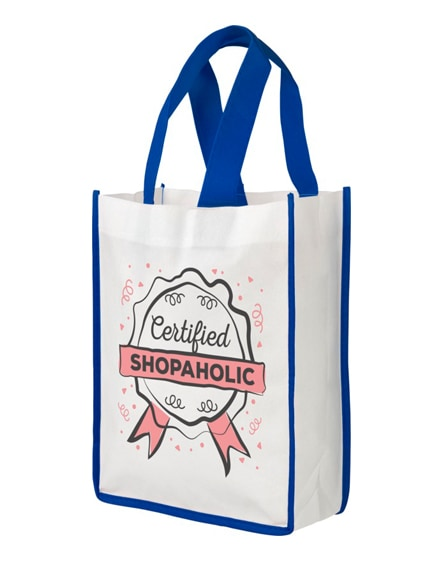 branded contrast small non-woven shopping tote bag