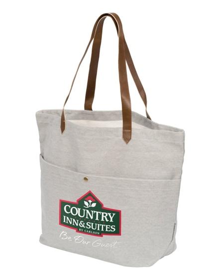 branded harper cotton canvas book tote bag