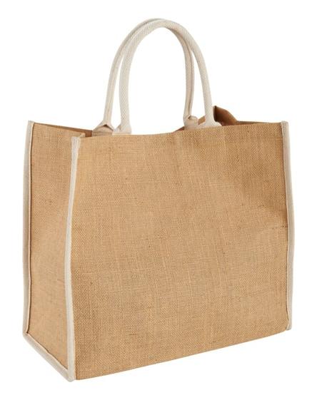 branded harry coloured edge jute tote bag