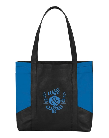 branded joey coloured panel non-woven tote bag