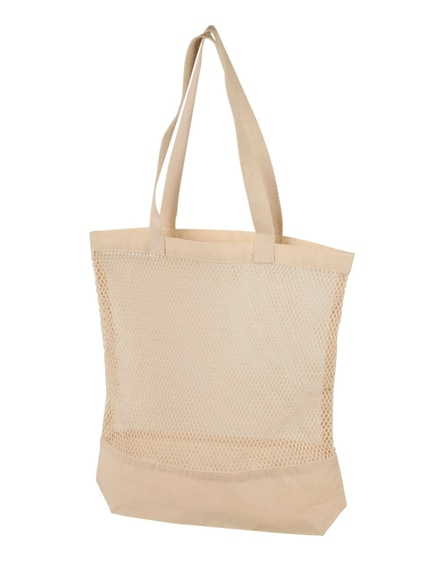 branded maine mesh cotton tote bag