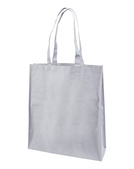 branded papyrus paper woven tote bag