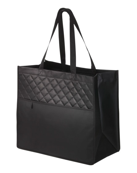 branded quilto laminated non-woven shopping tote bag