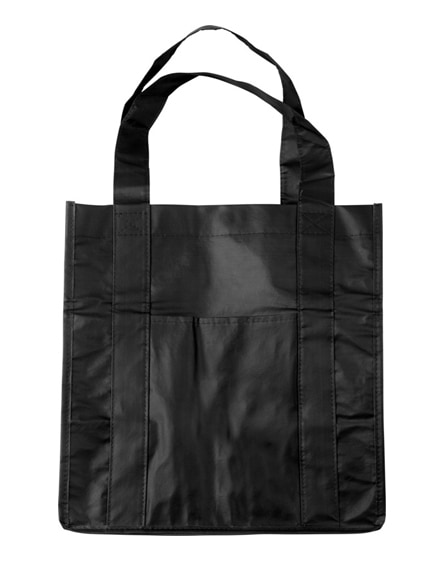 branded savoy slash pocket laminated non-woven tote bag
