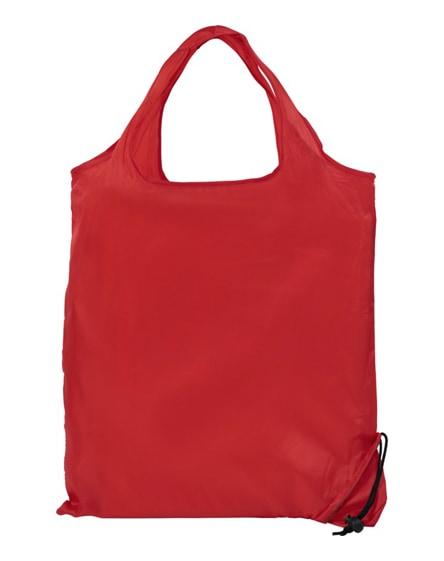 branded scrunchy shopping tote bag