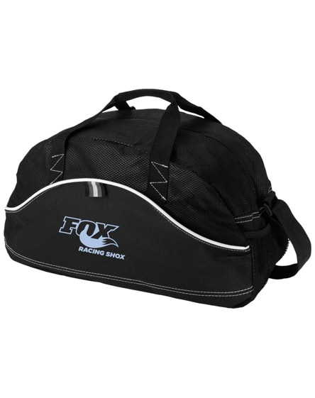 branded boomerang duffel bag