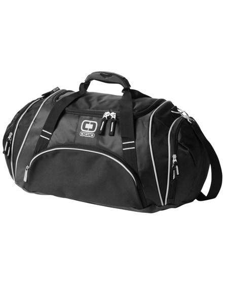 branded crunch duffel bag