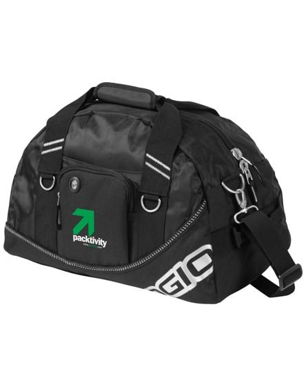 branded half-dome duffel bag