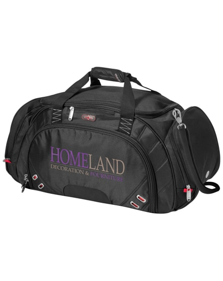 branded proton travel duffel bag