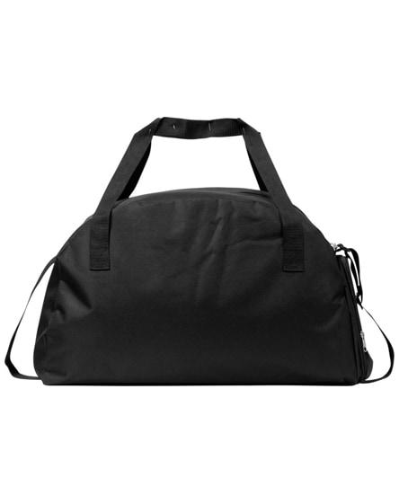 branded track sports duffel bag