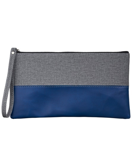 branded heathered cosmetic bag