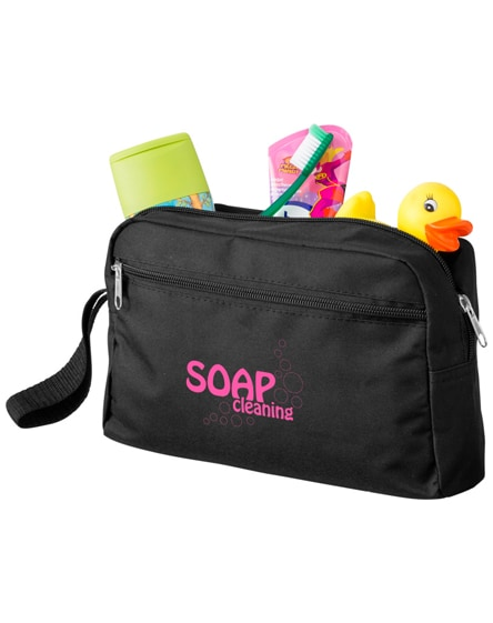 branded transit toiletry bag