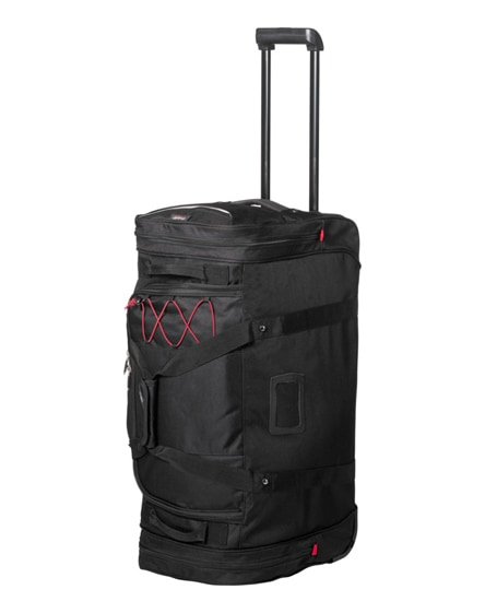 branded proton duffel bag with wheels