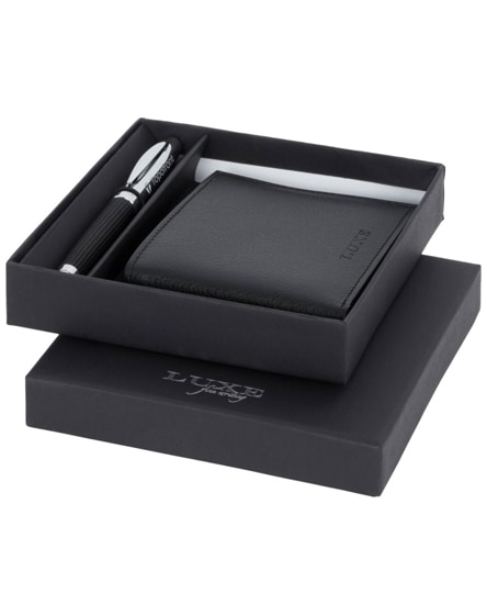 branded baritone ballpoint pen and wallet gift set