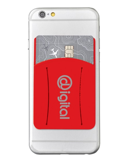 branded storee silicone smartphone wallet with finger slot