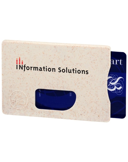 branded straw rfid card holder