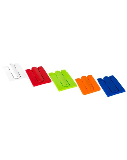 branded stue silicone smartphone stand and wallet