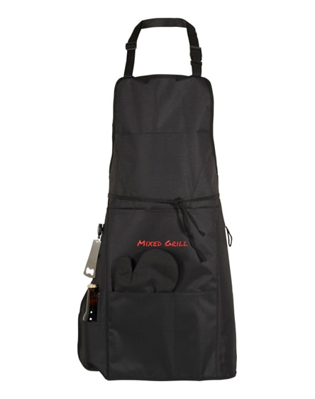 branded grill bbq apron with insulated pocket