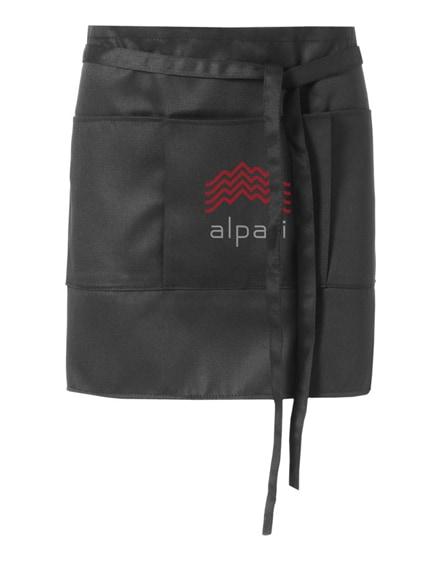 branded lega short apron with 3 pockets