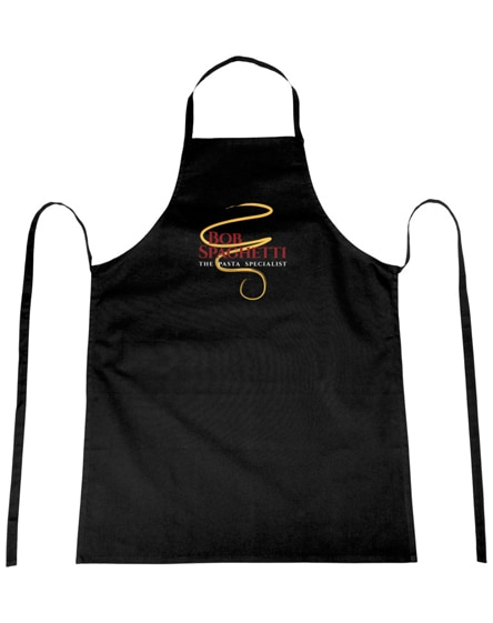 branded reeva 100% cotton apron with tie-back closure