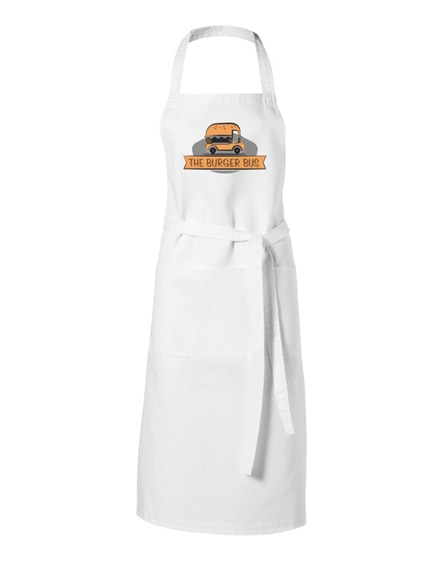branded viera apron with 2 pockets