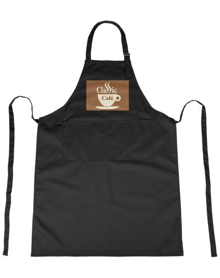 branded zora apron with adjustable neck strap