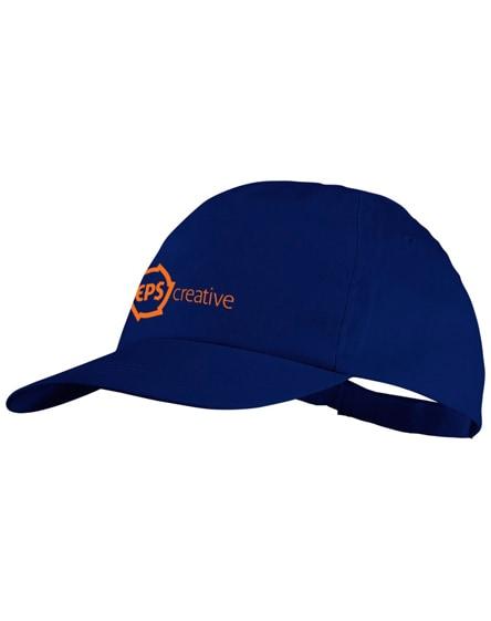 branded basic 5-panel cotton cap